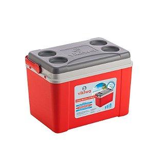Caixa Térmica 12 litros Vermelha - Viktwa