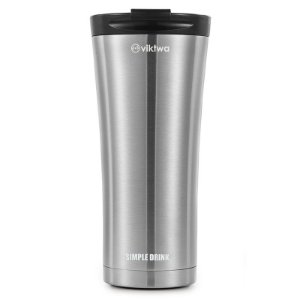 Copo Térmico Long Simple Drink 500ml Inox Viktwa