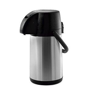 Garrafa Térmica Excelence 2,2 litros Inox / Preto - Soprano