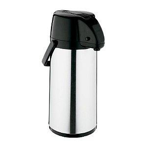 Garrafa Térmica Exclusiva 1,9 litros Inox / Preto - Soprano