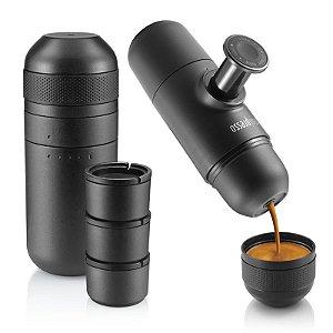 Combo Cafeteira Portátil Minipresso GR e Kit Minipresso Tank e Reservatório Wacaco