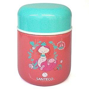 Pote Térmico Intantil 280ML Rosa Santeco
