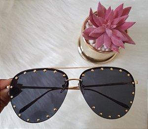 Óculos de luxo pedra