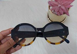 Óculos de sol redondo luxo