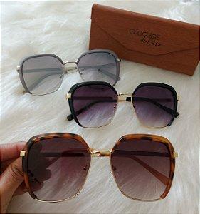 Óculos de luxo Quadrado