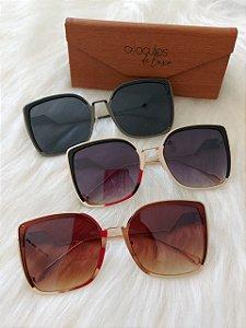 Óculos de luxo Quadrado com metal