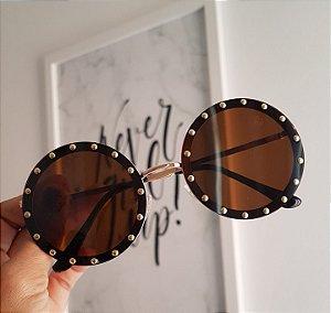 oculos round pedra
