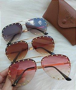 oculos aviador pedra