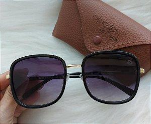oculos quadrado preto