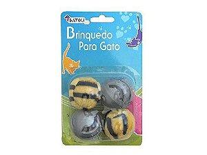 Brinquedo Para Gatos Bolinhas 4 Bolas (4cm) Batiki