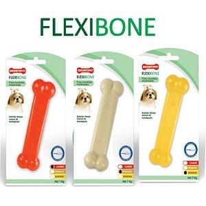 Brinquedo Cachorro Osso Flexibone Odontopet Cães Até 15kg