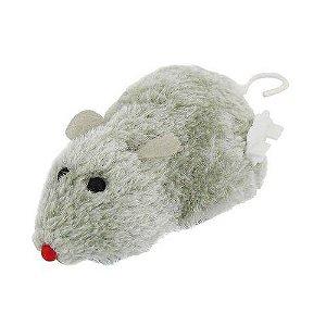 Brinquedo Para Gato Ratinho De Pelúcia Movido À Corda