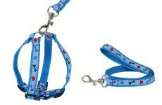 Guia E Peitoral Para Cachorros Cães Osso Patinha No 4 - 60cm