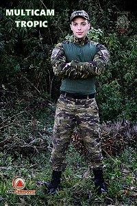Conjunto Combat Shirt + Calça Tática Multicam tropic