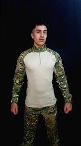 Conjunto Combat Shirt + Calça Tática Multicam