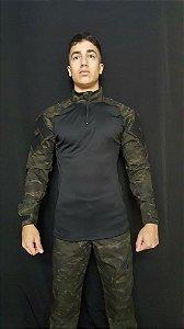 Conjunto Combat Shirt e calça tática multicam black