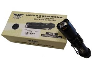 Lanterna Tática Led Recarregável T6 1800000W 5400000 Lumens