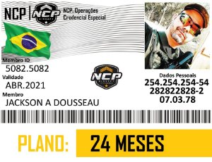 CREDENCIAL NCP AIRSOFT 2 ANOS