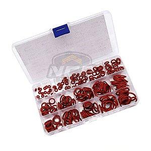 Caixa de Anéis para vedação em Silicone - 15 Tamanhos 225 PÇS