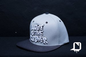 Boné Snapback Battle in the Cypher - Grey and Black