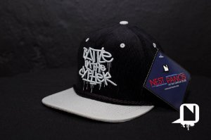 Boné Snapback Battle in the Cypher - Black and Grey