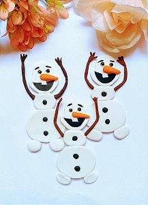 Aplique Olaf de Biscuit Para Tiaras