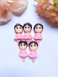 Aplique Bailarina de Biscuit Para Laços e Tiaras