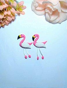 Aplique Flamingo de Biscuit para Laços