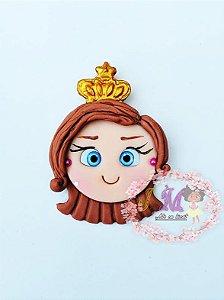 Princesas Disney em Biscuit Aplique Rosto