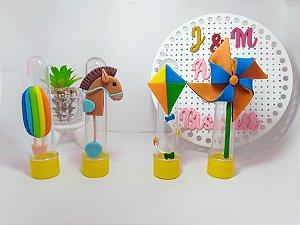 Tubetes Personalizados - Brinquedos de Menino em Biscuit