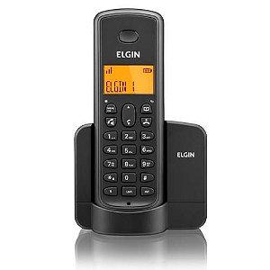 Telefone Sem Fio Elgin Tsf 8001 Dect 6.0 1.9 Ghz C/ Viva Voz E Identificador De Chamadas