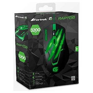 Mouse Gamer Fortrek Raptor Series USB 6 Botões 3200DPI OM801 - 60839