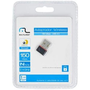 Adaptador Wireless USB Nano 150Mbps - MULTILASER-RE035