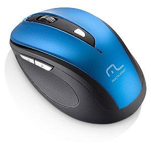 Mouse MULTILASER S/ FIO COMFORT AZUL 1600 DPI MO 240