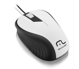 Mouse MULTILASER C/ FIO WAVE BRANCO 1200 DPI MO 224
