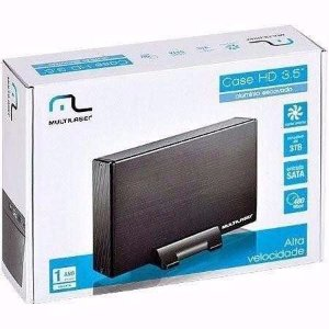 Case para HD 3,5 com Cooler Multilaser GA119 Preto