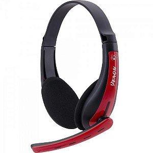Headset Gamer PC/XBOX 360 SPIDER VENOM SHS-701 Preto/Vermelho FORTREK