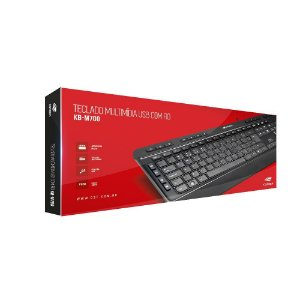 Teclado USB Multimídia C3Tech KB-M700 Preto
