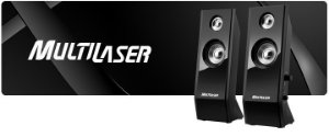 Caixa de Som 2.0 Multilaser 8W Black Piano SP091