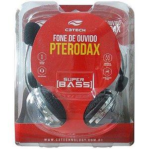 Headset C3tech  Pterodax Prata/Azul - MI-2322RC