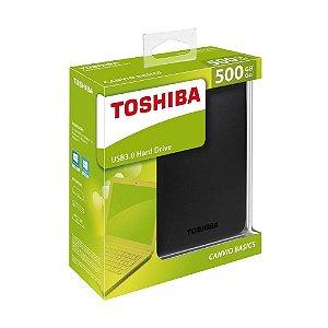 HD Externo Toshiba Canvio Basics HDTB305XK3AA 500GB USB 3.0