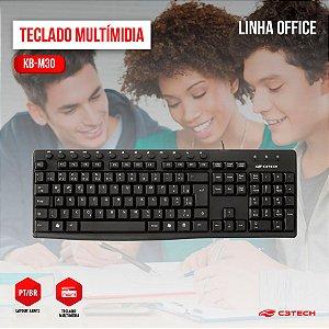 Teclado C3 Tech Multimídia, ABNT2 - KB-M30BK