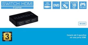 Switch Multilaser HDMI 3 em 1 WI290