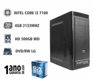 CPU MEGA MEDIUM i3 3MB 3.9GHZ / 4GB DDR4 2133MHZ / 500GB / DVD-RW