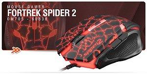 Mouse Gamer Fortrek Spider 2 USB 6 Botões 3200DPI OM705 - 60838