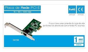 Placa de Rede PCI-Express 10/100/1000 Mbps Multilaser GA150