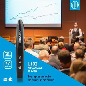 Apresentador multimídia HOOPSON Laser Pointer L103