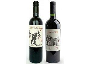 Dupla Vinhos Piegrande - Malbec + Red Blend - 2 unidades 750ml