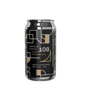 Cerveja Entrequadras 108 Imperial Porter - 350ml