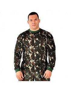 Camiseta Manga Longa Camuflado Exército Brasileiro